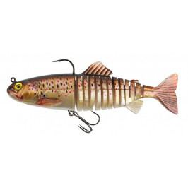 FOX RAGE Gumová Nástraha Replicant Jointed SN Brown Trout 18 cm