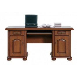 Produkt Klasický PC stůl se zásuvkami a skříňkami NATALIA, BIU/160, višeň primaver PC psací stoly