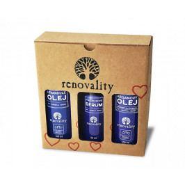 Produkt Renovality Hyaluronové sérum s dávkovačem 50 ml + Arganový olej za studena lisovaný 100 ml + Masážní a tělový o Produkty