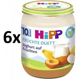 HiPP BIO Jogurt s ovocem - 6x160 g expirace 31.8.2018
