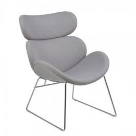 Design Scandinavia Relaxační křeslo Cesar, sv. šedá
