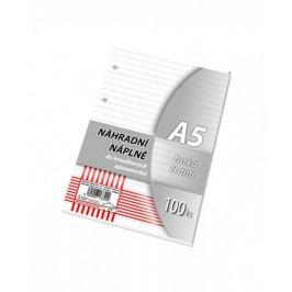 Náhradní vložka A5 100 listů, linka