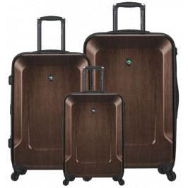Mia Toro Sada cestovních kufrů M1535/3 hnědá