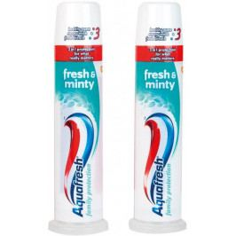 Aquafresh Fresh&Minty 3in1 zubní pasta 2 x 100 ml