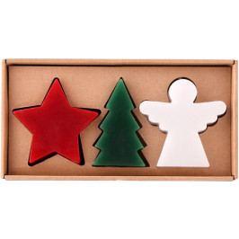 Toro Set vánočních svíček (stromeček + hvězda + anděl)