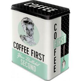 Produkt Postershop Plechová dóza L Coffee Firts Dárkové předměty