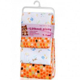 Produkt T-tomi Látkové pleny, sada 4 kusů - Oranžové tlapky Látkové plenky