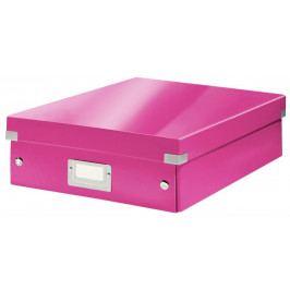 Krabice CLICK & STORE WOW střední organizační, růžová