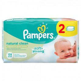 Pampers Pampers ubrousky Natural Clean 2x64ks