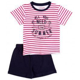 Losan chlapecké pyžamo 92 červená/černá