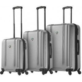 Mia Toro M1210/3 Sada cestovních kufrů stříbrná