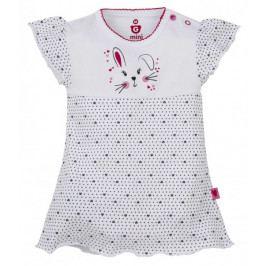 G-mini Dívčí body/šaty Zajíček, 56 cm
