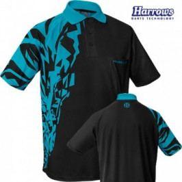 Harrows Košile Rapide - Black & Aqua Blue