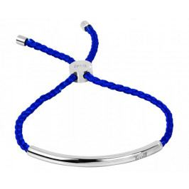 Troli Královsky modrý šňůrkový náramek s ocelovou ozdobou
