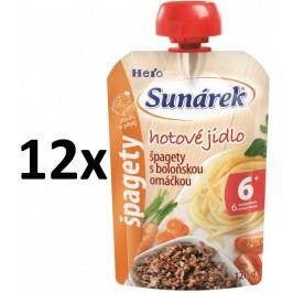 Sunárek Špagety s boloňskou omáčkou 12x120g - II. jakost