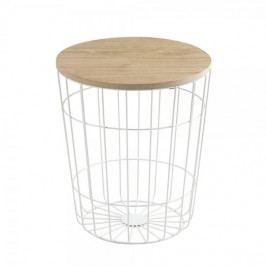 Produkt Design Scandinavia Konferenční stolek Pavola, 34 cm, bílá Konferenční stoly