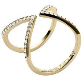 Michael Kors Otevřený pozlacený prsten s krystaly MKJ3749710 (Obvod 54 mm)