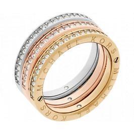 Produkt Michael Kors Sada tří vrstvených prstenů Tricolor MKJ6388998 (Obvod 58 mm) Prsteny