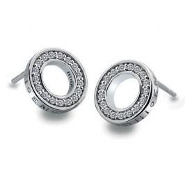 Hot Diamonds Stříbrné náušnice Hot Diamonds Emozioni Saturno Clear DE408 stříbro 925/1000