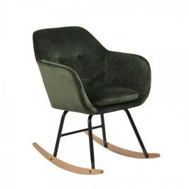 Design Scandinavia Houpací křeslo Milton, zelená