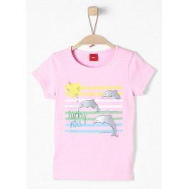 s.Oliver dívčí tričko 104 - 110 růžová