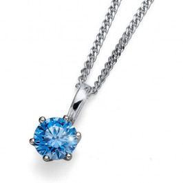 Oliver Weber Náhrdelník s modrým krystalem Morning Brilliance Medium 61125 BLU stříbro 925/1000
