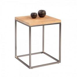 Artenat Odkládací stolek Olaf, 40 cm, dub/nerez