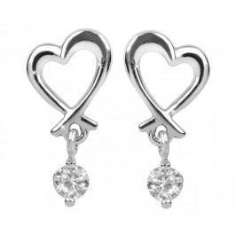 Brilio Silver Něžné náušnice Srdce 436 001 00447 04 - 1,48 g stříbro 925/1000