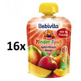 Bebivita Ovocná kapsička - Jablko, broskev, mango - 16×90g