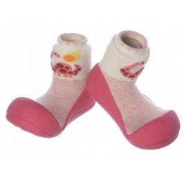 Attipas Dívčí botičky Dinosaur Fuchsia 19 růžová