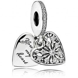 Pandora Stříbrný srdíčkový přívěsek 796372CZ stříbro 925/1000