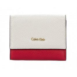 Calvin Klein Dámská peněženka Cosmopolitan Medium Trifold Cb Cement/Scarlet