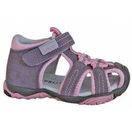 Protetika Dívčí sandály Sid 25 šedo-růžové