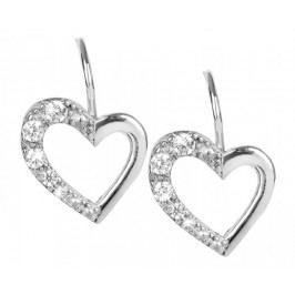 Brilio Silver Stříbrné náušnice Srdce 436 001 00405 04 - 1,43 g stříbro 925/1000