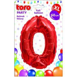 Toro Balónek XL Číslice 0 červená 60 cm