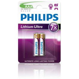 Philips AAA 2ks Lithium Ultra (FR03LB2A/10)