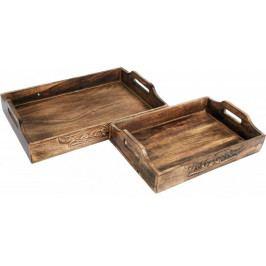 Sifcon Set 2ks dřevěných podnosů - II. jakost