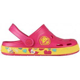 Coqui Dívčí sandály Froddy 26/27 růžovo-žlutá