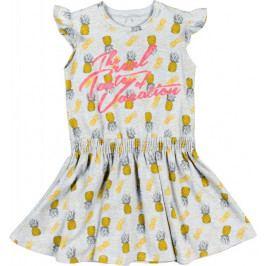 MMDadak dívčí šaty Ananas 104 šedá