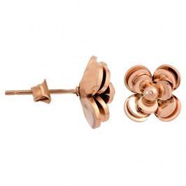Troli Bronzové náušnice Květina