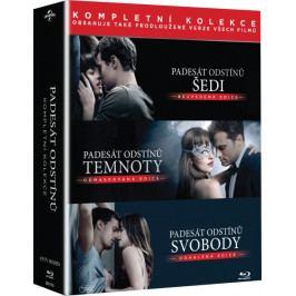 Padesát odstínů - Kompletní kolekce (3 BD)   - Blu-ray