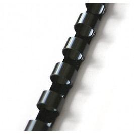 Hřbet pro kroužkovou vazbu 19 mm černý / 100 ks