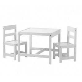 BabyDan Sada dětský stůl a 2 židličky, bílá