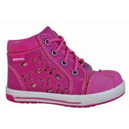 Protetika Dívčí kotníkové boty Savana - růžové 19
