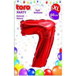Toro Balónek XL Číslice 7 červená 60 cm