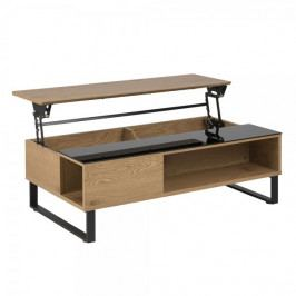 Design Scandinavia Konferenční stolek Rosemary, 110 cm, dub/černá