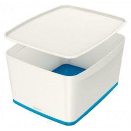 Box úložný s víkem Leitz MyBox M bílý/modrý