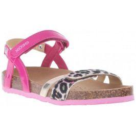 Geox Dívčí páskové sandály Aloha 27 modro-růžová
