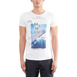 s.Oliver pánské bavlněné tričko L smetanová