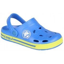 Coqui Chlapecké sandály Froggy 32/33 žluto-modrá